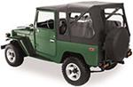Bestop Supertop Soft Top for Toyota Land Cruiser FJ40 1964-1984 - Black Denim
