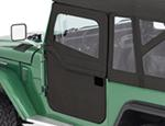 Bestop 2-Piece Soft Doors for Toyota Land Cruiser FJ40 1964-1984 - Black Denim