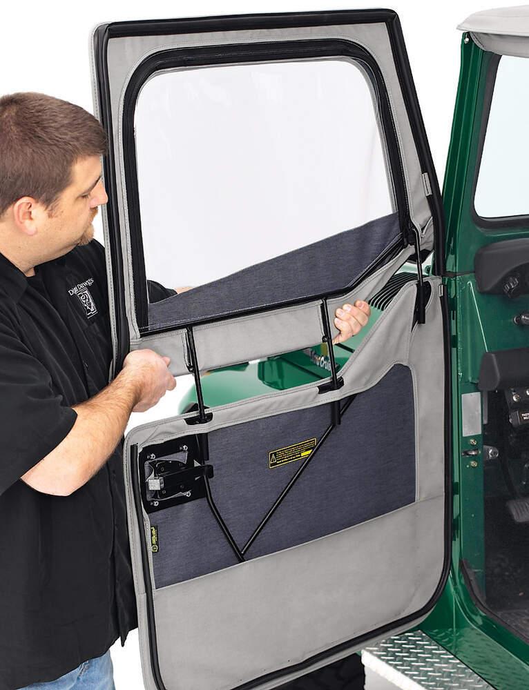 2011 Jeep Wrangler Soft Top Bestop 2-Piece Soft Front Doors for Jeep Wrangler, Wrangler Unlimited ...