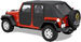 Bestop 2-Piece Soft Rear Doors for Jeep Wrangler Unlimited - Black Diamond