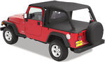 Bestop Full-length Header Bikini with Windshield Channel, Safari Version for Jeep - Black Diamond