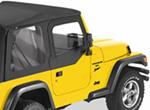 Bestop Fabric Replacement Upper Door Skins for Jeep - Black Diamond