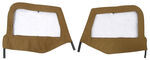 Bestop Fabric Replacement Upper Door Skins for Jeep - Spice