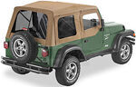 Bestop Supertop Soft Top for Jeep - Spice - Soft Upper Doors, Tinted Windows