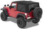 Bestop Supertop NX Soft Top for Jeep - Twill - Sunroof and Tinted Windows - Matte Black