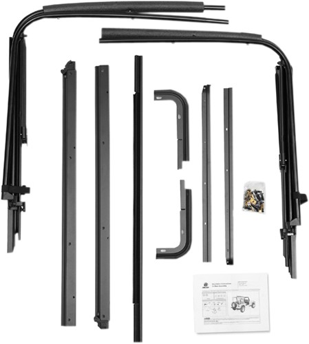 Jeep Yj Soft Top Replacement Bow Kit 88 95 Jeep Wrangler: Bestop Replacement Factory-Style Bow Hardware Kit For Jeep