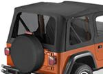 Tinted Window Kit for Bestop Replace-A-Top for 1997-2002 Jeep - Black Denim