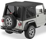 Tinted Window Kit for Bestop Replace-A-Top for 2003-2006 Jeep - Black Diamond