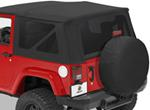 Tinted Window Kit for Bestop Sailcloth Replace-A-Top, 2007-2010 Wrangler - Black Diamond