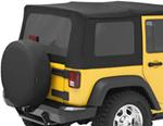 Tinted Window Kit for Bestop Sailcloth Replace-A-Top, 2007-2010 Wrangler Unlimited - Black Diamond