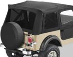 Tinted Window Kit for Bestop Supertop, 1976-1995 Jeep - Black Denim