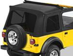 Tinted Window Kit for Bestop Sunrider Top, 1976-1995 Jeep CJ-7, Wrangler - Black Denim