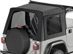 Tinted Window Kit for Bestop Sunrider Top, 1997-2006 Jeep - Black Denim