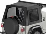 Tinted Window Kit for Bestop Sunrider Top, 1997-2006 Jeep - Black Diamond