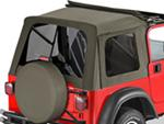 Tinted Window Kit for Bestop Sunrider Top, 1997-2006 Jeep - Khaki Diamond