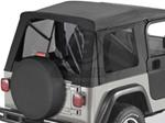 Tinted Window Kit for Bestop Supertop, 2003-2006 Jeep - Black Denim