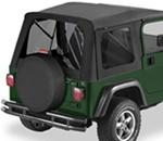 Tinted Window Kit for Bestop Supertop, 2003-2006 Jeep - Black Diamond