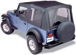 Bestop Sailcloth Replace-A-Top for Jeep - Black - Half Door Skins