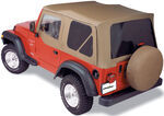 Bestop Sailcloth Replace-A-Top for Jeep - Spice - Tinted Windows, Half Door Skins (Untinted)