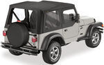 Bestop Sailcloth Replace-A-Top for Jeep - Black Diamond - Half Door Skins