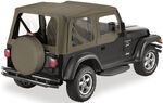 Bestop Sailcloth Replace-A-Top for Jeep - Khaki Diamond - Half Door Skins