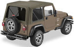 Bestop Sailcloth Replace-A-Top for Jeep - Khaki Diamond - Tinted Windows