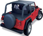 Bestop Sport Bar Cover for Jeep - Black Denim - 1997-2002