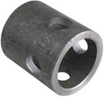 "Bulldog 2-1/4"" Long, Weld-On Jack Pipe Mount for 2-1/2"" Female Mount and 5/8"" Pin"