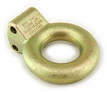 "Bulldog Lunette Ring for Adjustable Channel Bracket - 3"" Diameter - 14,000 lbs - Zinc"