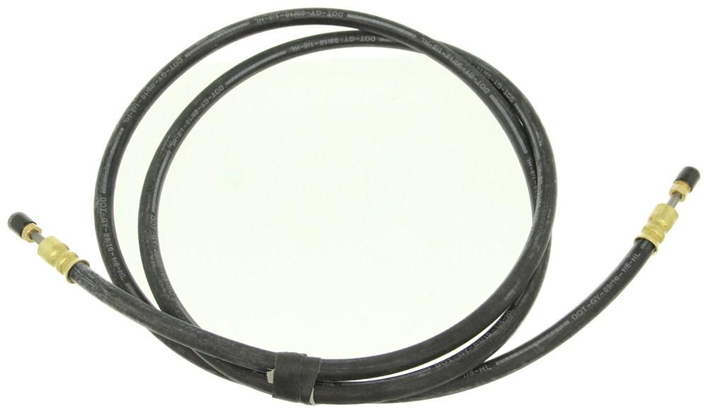Stainless Steel Flexible Brake Lines : Kodiak hydraulic brake hose quot male fittings w