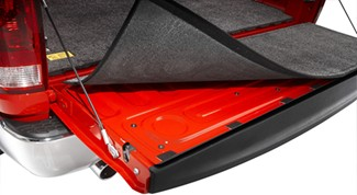 Installation of BedRug tailgate mat with hook-n-loop system