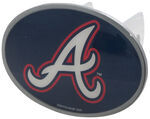"Atlanta Braves 2"" MLB Trailer Hitch Receiver Cover - Oval Face - Zinc"