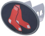 "Boston Red Sox 2"" MLB Trailer Hitch Receiver Cover - Oval Face - Zinc"