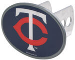 "Minnesota Twins 2"" MLB Trailer Hitch Receiver Cover - Oval Face - Zinc"