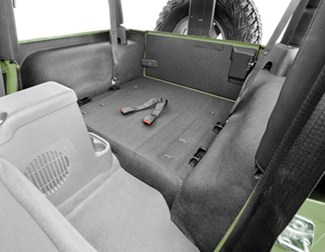 Bedrug Custom Jeep Replacement Liner For Rear Cargo Area And Tailgate Rubber Bedrug Floor Mats