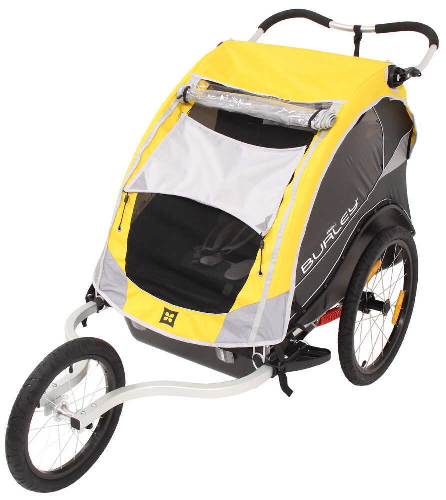 Burley Cub Bike Trailer and Jogger - 2 Child - Yellow ...