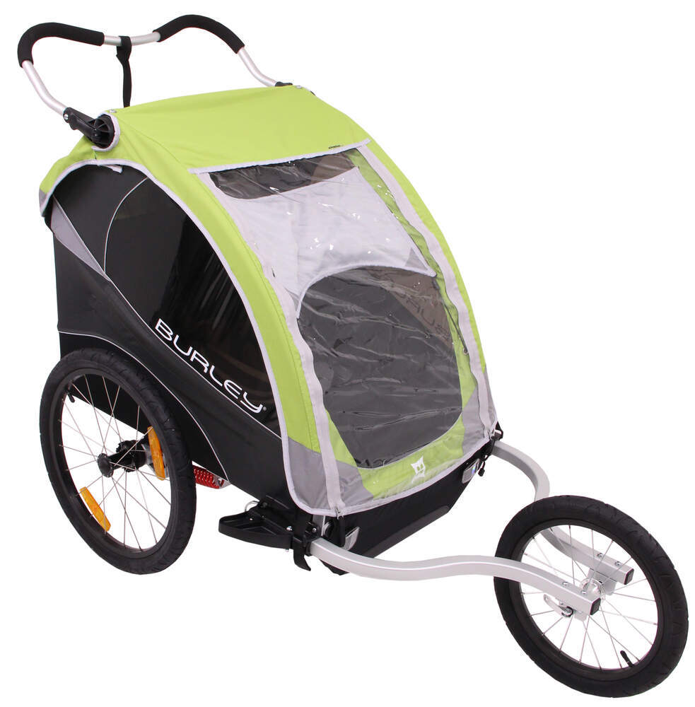burley d 39 lite bike trailer and jogger 2 child green. Black Bedroom Furniture Sets. Home Design Ideas