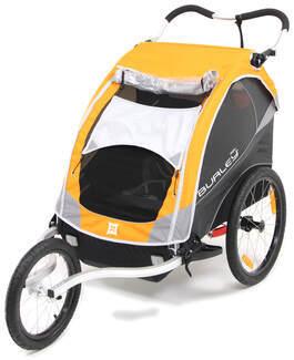 burley d 39 lite bike trailer and jogger 2 child orange. Black Bedroom Furniture Sets. Home Design Ideas