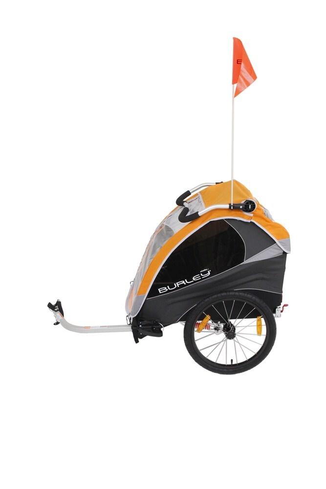 burley d 39 lite bike trailer 2 child orange burley. Black Bedroom Furniture Sets. Home Design Ideas