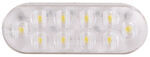 "LED Backup Light - 10 Diode - Sealed - 6"" Oval - White w/ Clear Lens"