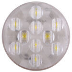 "LED Backup Light - 10 Diode - Sealed - 4"" Round - White w/ Clear Lens"