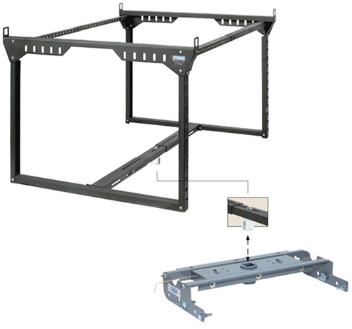 Truck Bed Ladder Rack For B&W Turnoverball Gooseneck
