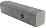 "Curt Solid Steel, 2"" Hitch Bar with Raw Finish - 8"" Long"