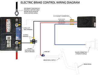 wiring diagram electric trailer brake control wirdig curt universal wiring kit for trailer brake controllers 10 gauge