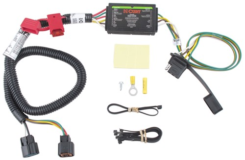 2009 Hyundai Santa Fe Trailer Wiring Harness : Curt t connector vehicle wiring harness for factory tow