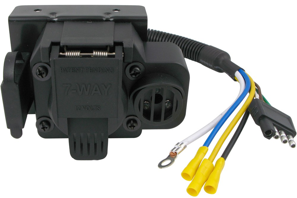 Curt Trailer Connector Adapter With Backup Alarm
