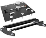 Curt Overbed, Folding Ball Gooseneck Trailer Hitch with Installation Kit - 30,000 lbs