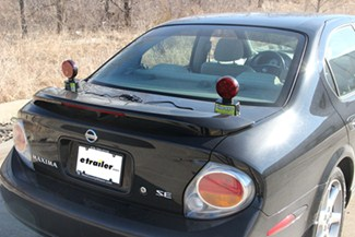 Blazer Tow Lights mount on the back of your towed Ford Fiesta.