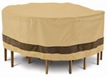 "Classic Accessories Cover for Patio Table-and-Chairs Set - Veranda Elite - 70"" Diameter"