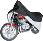 Classic Accessories Weather-Resistant Motorcycle Cover - 1,100 cc - Black and Silver